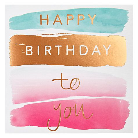 Buy Card Mix Birthday Brush Greeting Card Online at johnlewis.com