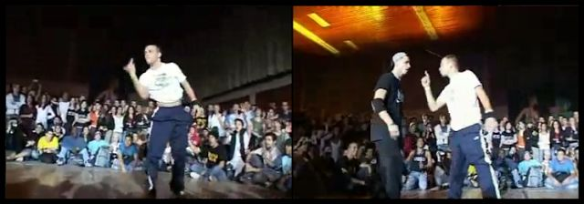 Spee-D vs Ismael. Seasoned bboy vs looking for quick fame bboy. Drastic and embarassing results.
