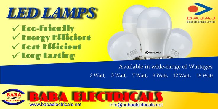Bajaj LED Lamps are Cost effective and Energy efficient. Bajaj LED Lamps also have longer life, thus are Eco-friendly and comes in wide range of wattage http://goo.gl/vRzEQm #LED #Lamp