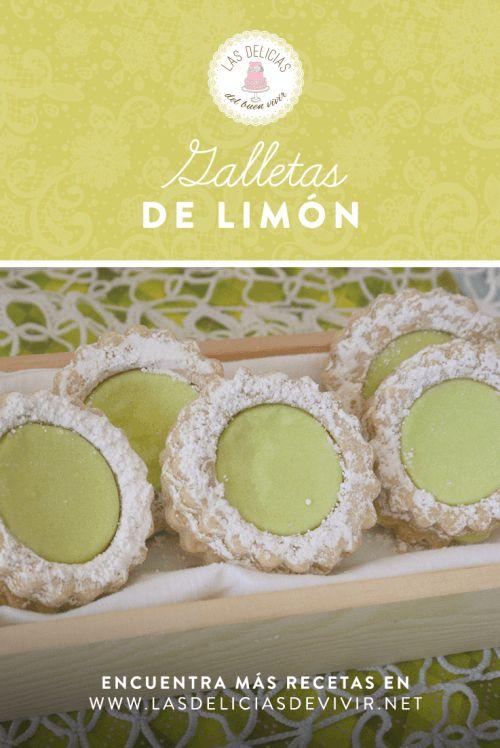 Receta de unas ricas Galletas rellenas con crema de limón