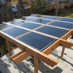 I would never have imagined installing my Solar Panels on a Pergola instead of my roof but I love the idea! It would provide shade, and power all at once. I really enjoyed this slide-show about how to choose the right Solar Panels for your home set-up, if you are as into Solar power as I am you should check it out!