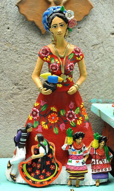 red clay tehuana Oaxaca mexico