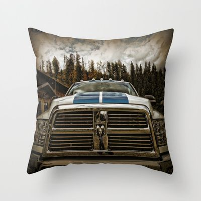 Dodge Automobile Throw Pillow by AngelEowyn. $20.00