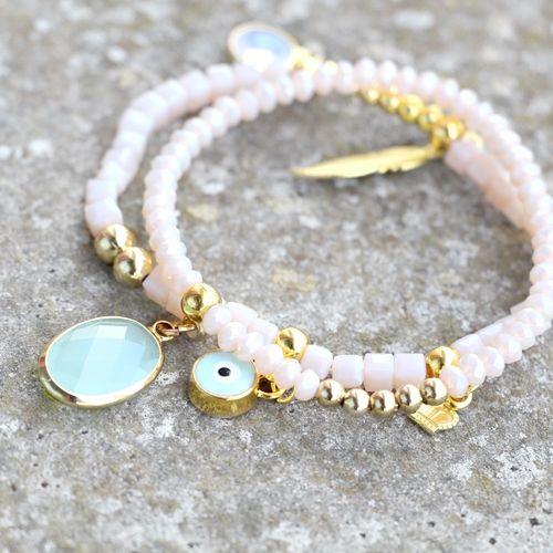 Luxe sieraden met schitterende hangers en tussenstukken van Crystal glas