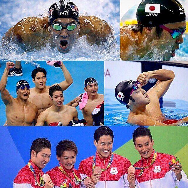 . リオオリンピック日目 男子競泳 52年ぶりの男子メートル自由形リレーで銅メダルおめでとうございます 自由形でとは凄い…