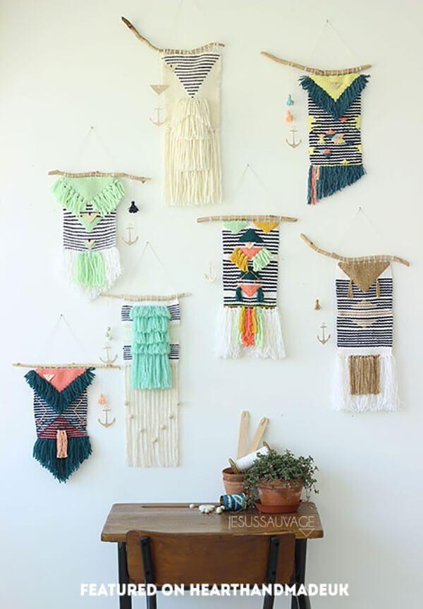 Jesus Sauvage wall of tapestries