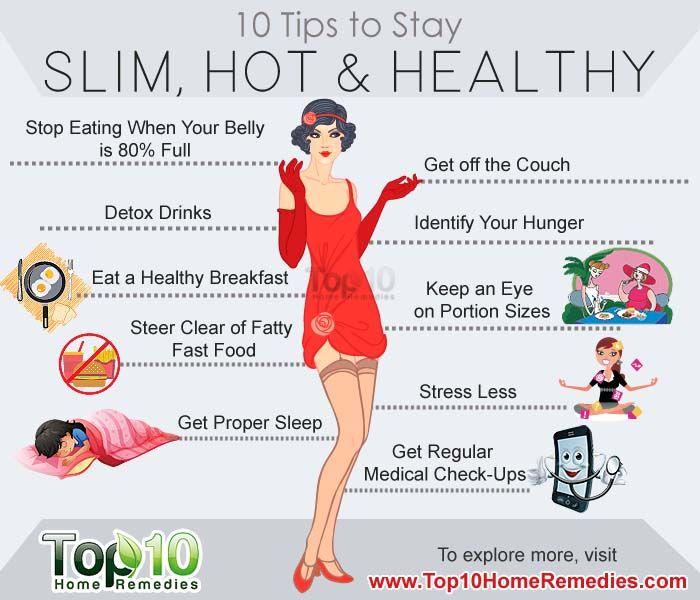 10 Simple Tips To Stay Slim, Hot And Healthy
