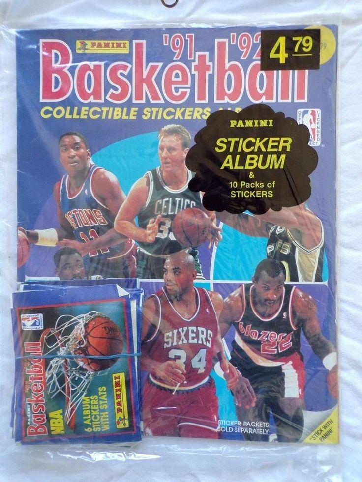 Panini '91'92 Basketball Collectible Stickers Alb. W/ 10