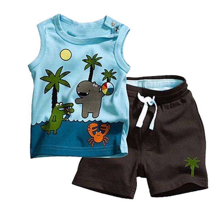 $4.23 (Buy here: https://alitems.com/g/1e8d114494ebda23ff8b16525dc3e8/?i=5&ulp=https%3A%2F%2Fwww.aliexpress.com%2Fitem%2FBoy-s-Coconut-Tree-Pattern-Sleeveless-Tops-Pants-2PCS-Set-Outfits-Clothes-0-3Y-XL073-Free%2F1190557127.html ) Children Baby Boy Coconut Tree Summer Sleeveless T-shirt Top+Short Pants Set Clothes 0-3Y for just $4.23