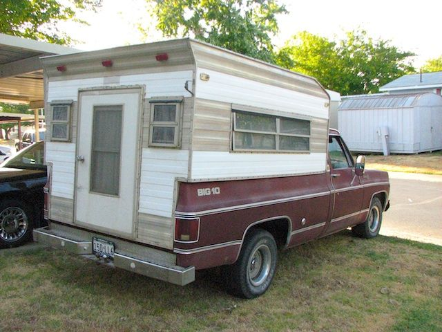 Vintage Truck Camper Shell Pickup Truck Camping