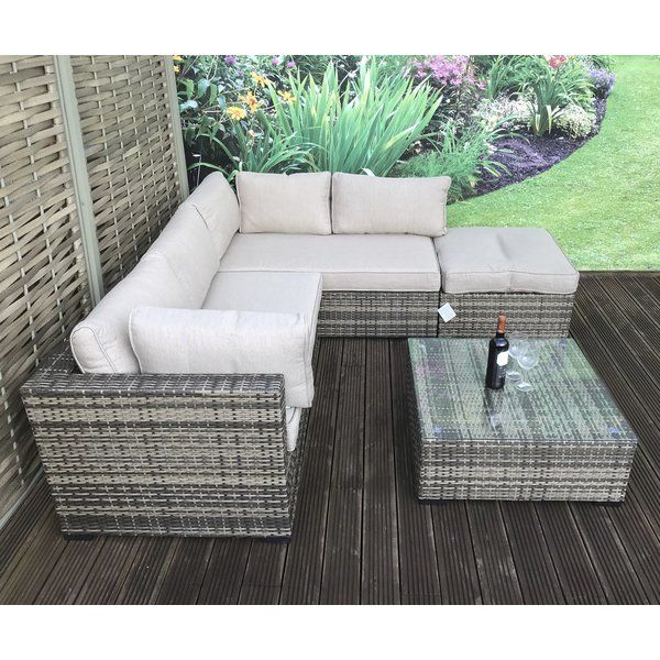You Ll Love The Artus 5 Seater Rattan Effect Sofa Set At Wayfair Co Uk Great Deals On Al Rattan Sofa Rattan Effect Garden Furniture Corner Sofa With Cushions