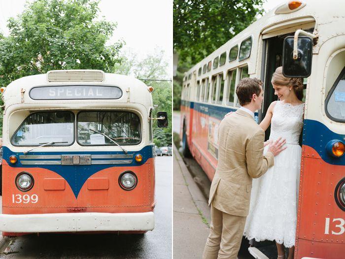 Love the dress!Buses, Wedding Inspiration, Vintage Weddings, Vintage Bus, Bridal Bliss, The Dress, Bridal Parties, Vintage Theme Wedding, Theme Weddings