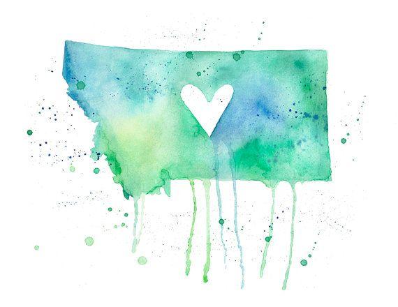 5x7  Montana Love by poppyandpinecone on Etsy, $10.00