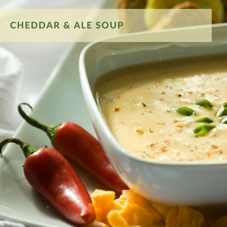 Cheddar & Ale Soup | Inspired by Mustard