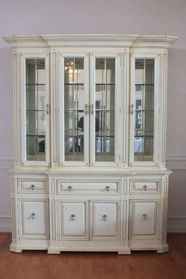 With A Little Touchup Though You Can Get These Second Hand Thomasville China Cabinets To