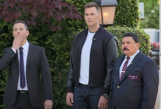 Tom Brady Photos From His Appearance On Jimmy Kimmel Live