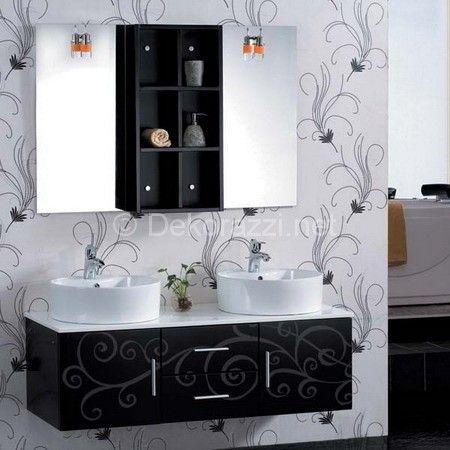Siyah Banyo Dolabı örnekleri Konusunda Bulunan 2015 Siyah Banyo