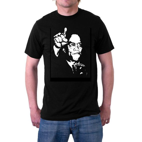 A t-shirt to commemorate 50 years since the death of Malcolm X. American Civil Rights leader Malcolm X, who was often accused of preaching hate and #black supremacy, and who... #mlk #usa #assassinated #history #politics #muslim