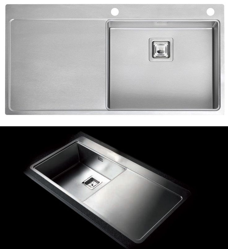 Reginox Nevada 50 contemporary single bowl sink - square waste outlet. http://www.sinks-taps.com/item-10539-NEVADA_50_Single_Bowl_Sink.aspx