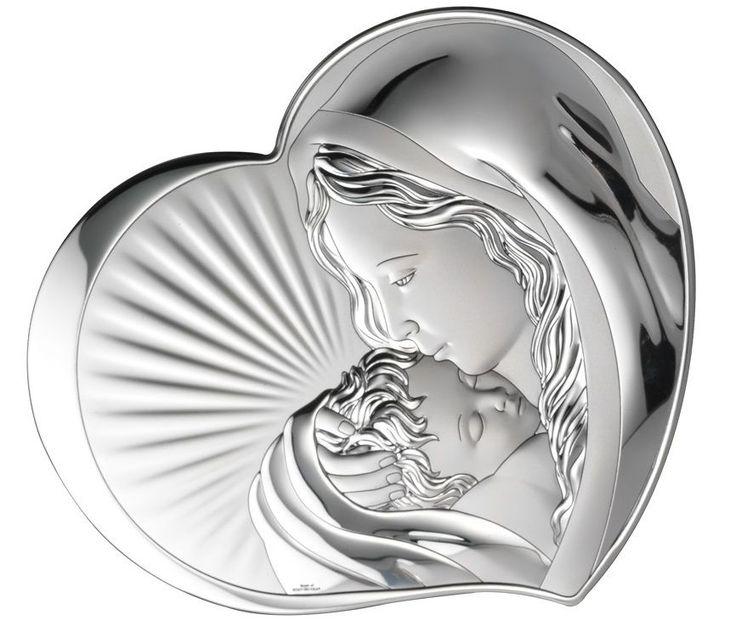 Srebrny obrazek Matka Boska z dzieciątkiem www.pasazhandlowy.eu