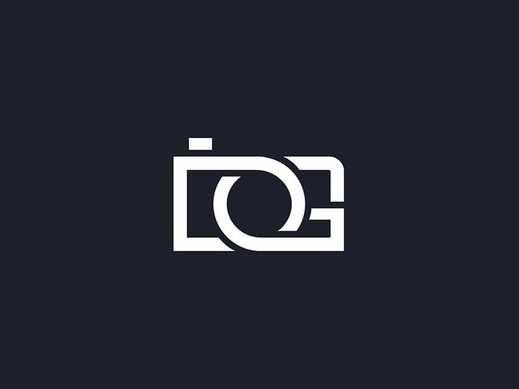 Extremely effective logo for DG photography! The combination of the letters fit perfectly together to make a camera! It is clear what the image is, and also clear as to what the two letters are! Great, simple and effective!