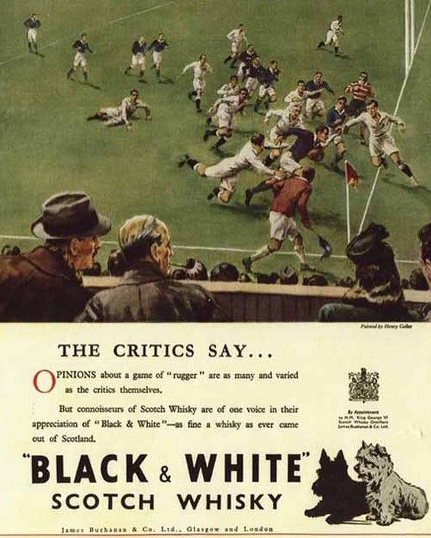 """Gündem spor günlerden de """"siyah / beyaz"""" olunca bu reklam geldi hemen aklıma. Bugünlerde eski popülerliğini yitirmiş olsa da uzun yıllar dünyanın en çok tanınan harman viskilerinden biri olan Black & White önemli bir hayran kitlesine sahipti. Beşiktaş'ın şampiyonluğunu kutluyorum!! #beşiktaş #şampiyon #besiktas #besiktask #viski #whisky #vintage #ad #blackandwhite"""