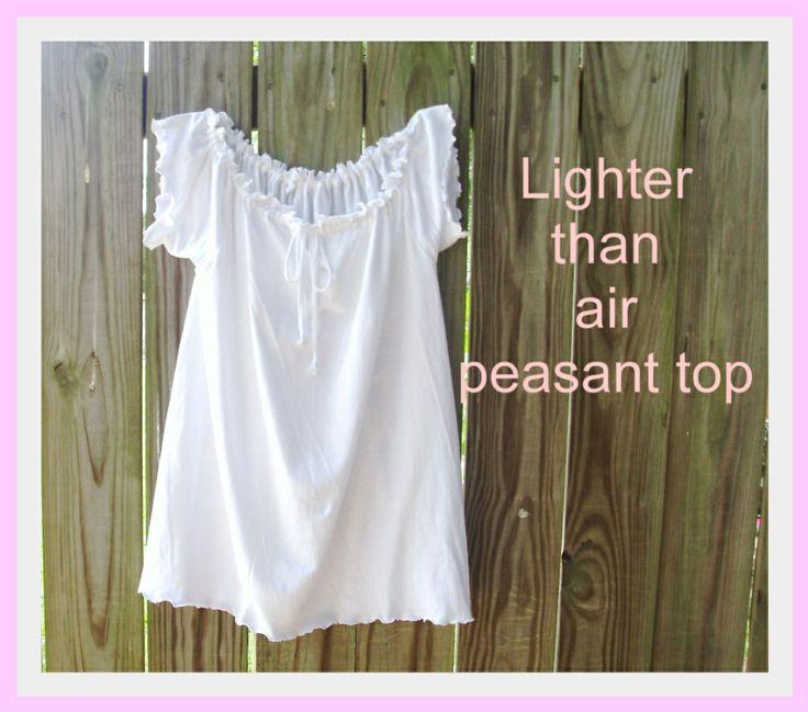 My Gramma Said: Tutorial: Lighter Than Air Peasant Top