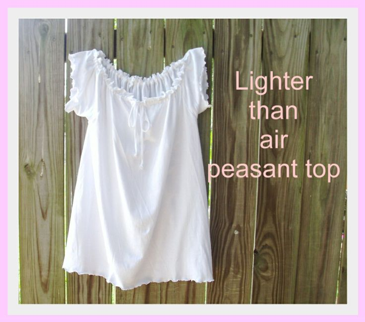 Lighter Than Air Peasant Top: Tees Shirts, Peasant Tops, Tops Tutorials, Air Peasant, Men Shirts, Diy Clothing, Sewing Machine, T Shirts, Sewing Tutorials