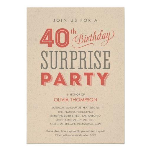 40th birthday invitation wording, Birthday invitations