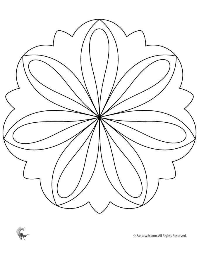 Simple Mandalas for Kids Easy Flower Mandala Coloring Page – Fantasy Jr.