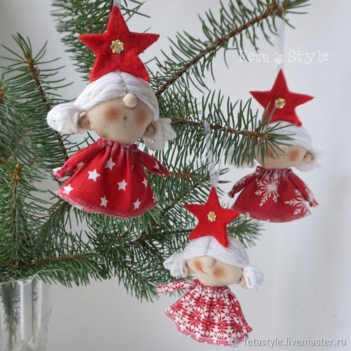 Купить Звезды Рождества Игрушки на Елку  Куклы маленькие - подарок на новый год, новогодний интерьер