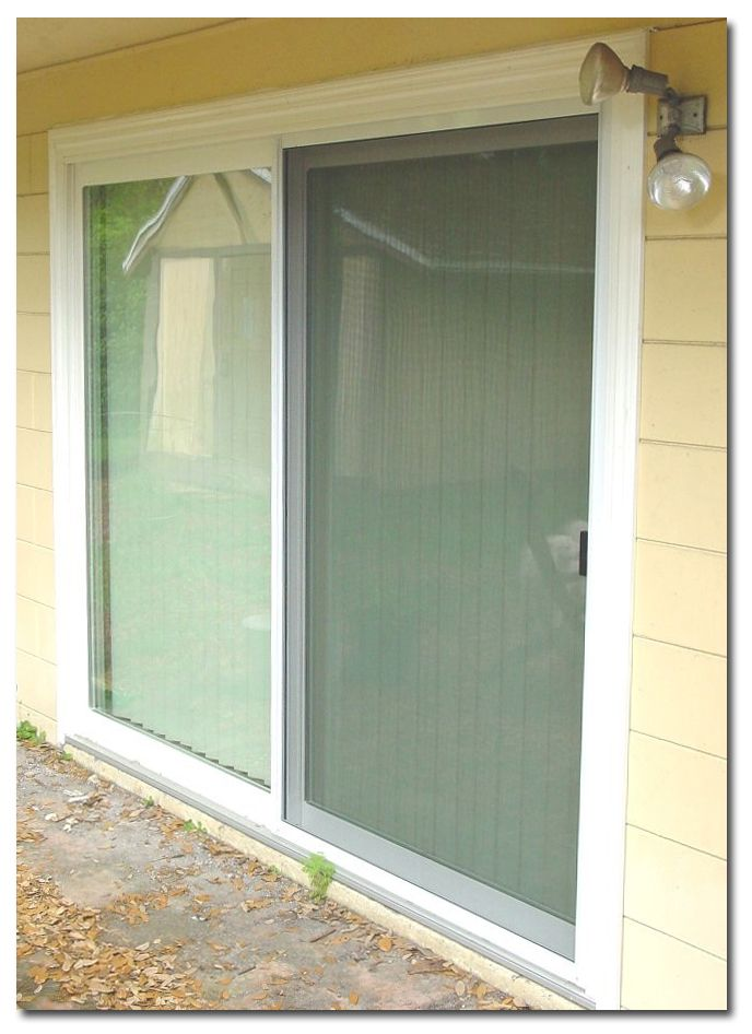 1000 ideas about sliding glass door replacement on for Replace window with door