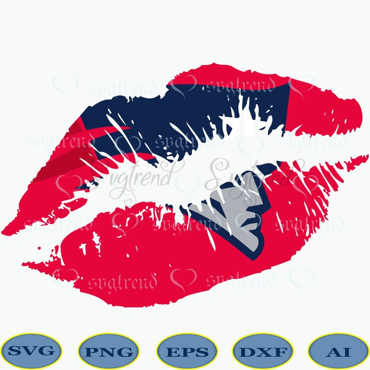 New England Patriots Lips Svg, Patriots Lips Png, New