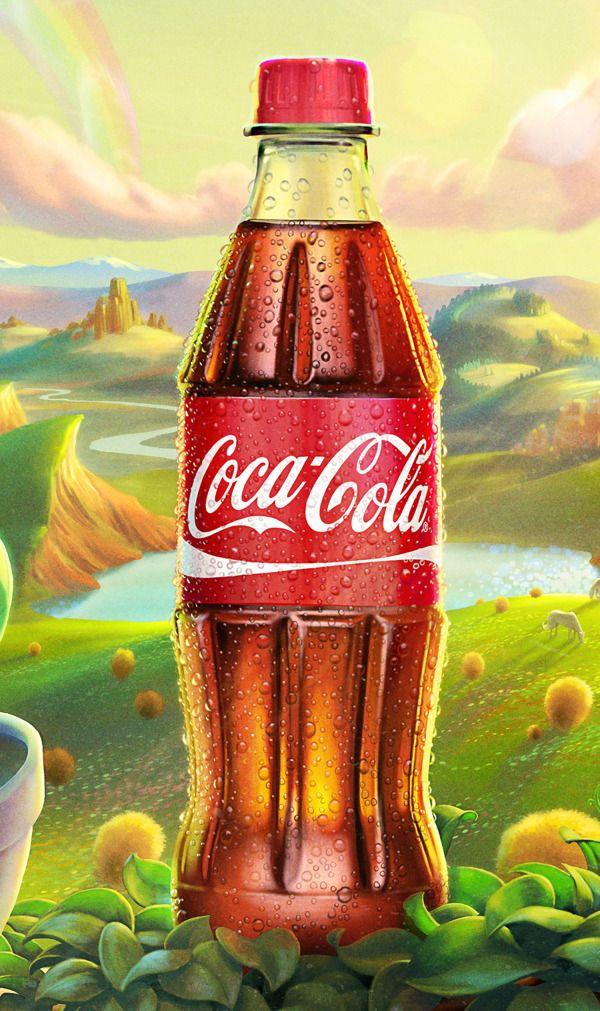 Les magnifiques illustrations d'Oscar Ramos pour la nouvelle bouteille Coca Cola à base de plantes