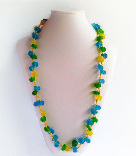 Kirana Yellow Crystal Bead | Indigo Heart - Fair Trade Fashion A$29.95