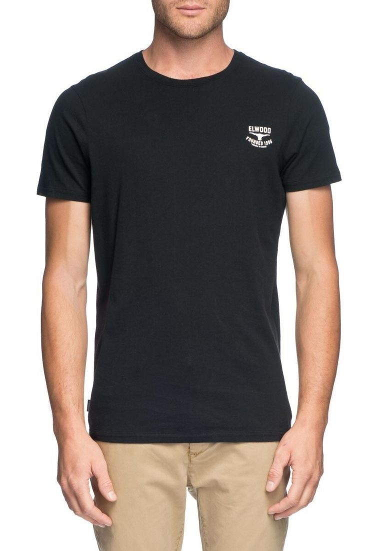ELWOOD CLOTHING - Core Logo Tee Black