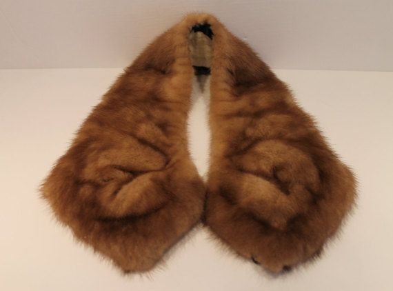 Genuine Vintage Fur Removable Collar  Animal Fur  by FunkieFrocks