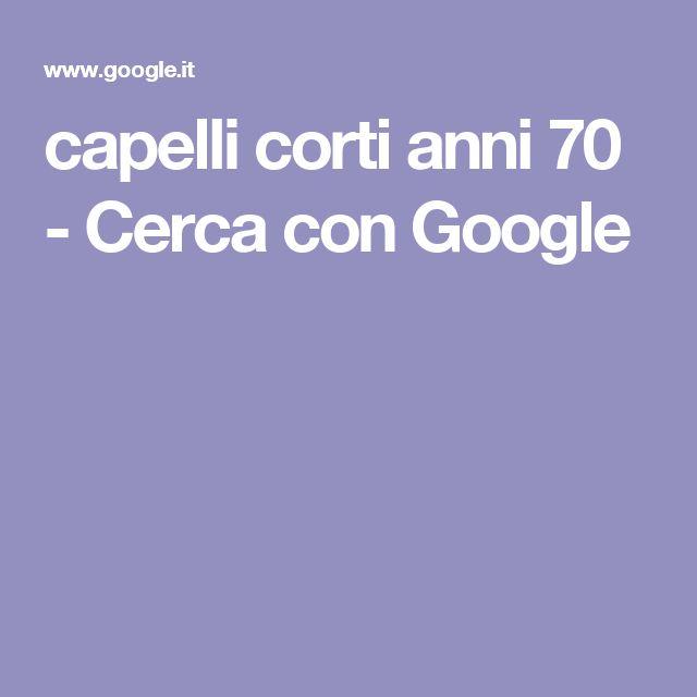 capelli corti anni 70 - Cerca con Google