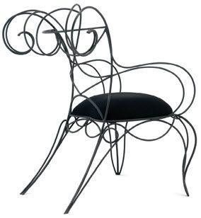 Sedia di design originale / tela RAM by André Dubreuil  CECCOTTI COLLEZIONI