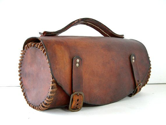French vinage leather tool bag. Medium size. Artist von Chanteduc, $156.00