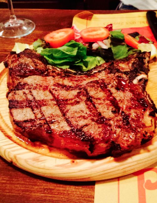 The florentine steak is a must try when in Florence, Italy.