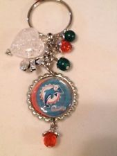Miami Dolphins Inspired Bottle Cap Keychain