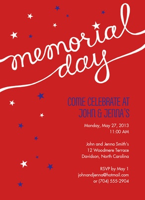 Script & Stars Memorial Day Invite