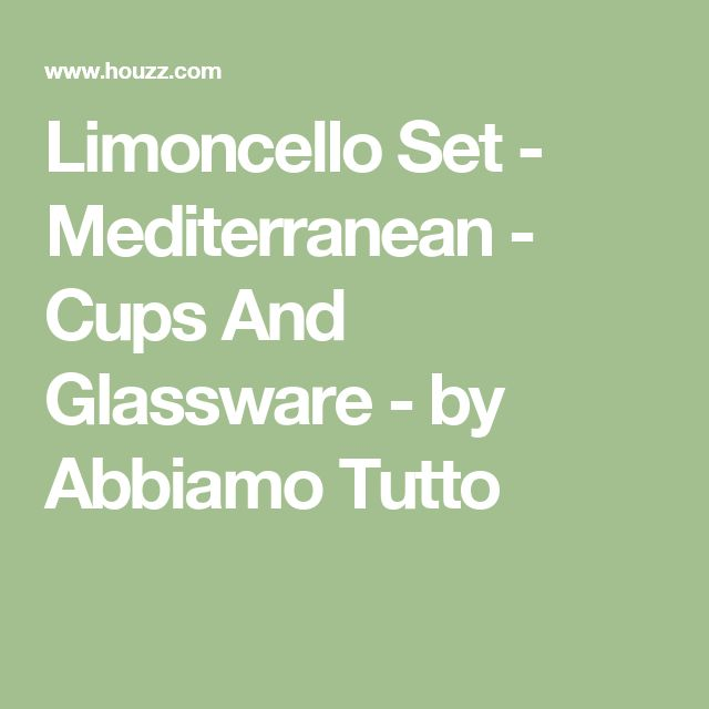Limoncello Set - Mediterranean - Cups And Glassware - by Abbiamo Tutto
