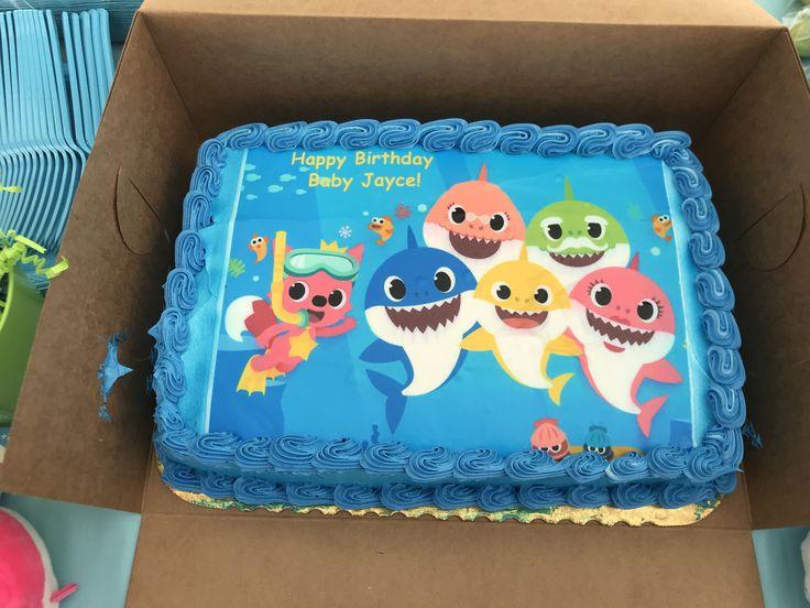 Baby Shark Cake Edible Image In 2019 Shark Birthday