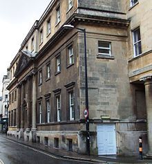 Royal United Hospital (City Centre) Royal National Hospital for Rheumatic Diseases NHS Trust. There is a fine pediment, in Bath stone, on 1860 building depicting the parable of the Good Samaritan.