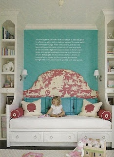 - NOT built ins - but could we turn your queen and center on headboard wall - so that there is more floor space? Just use two smaller night tables.  - I think it's worth thinking about before buying any kind of headboard. Queen size daybed with a trundle....built in to the wall!!!