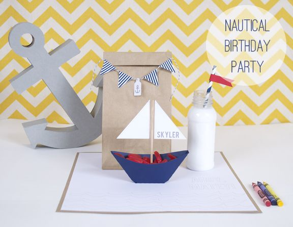 Silhouette Blog: DIY Party Week :: Nautical Birthday & FREE Shape of