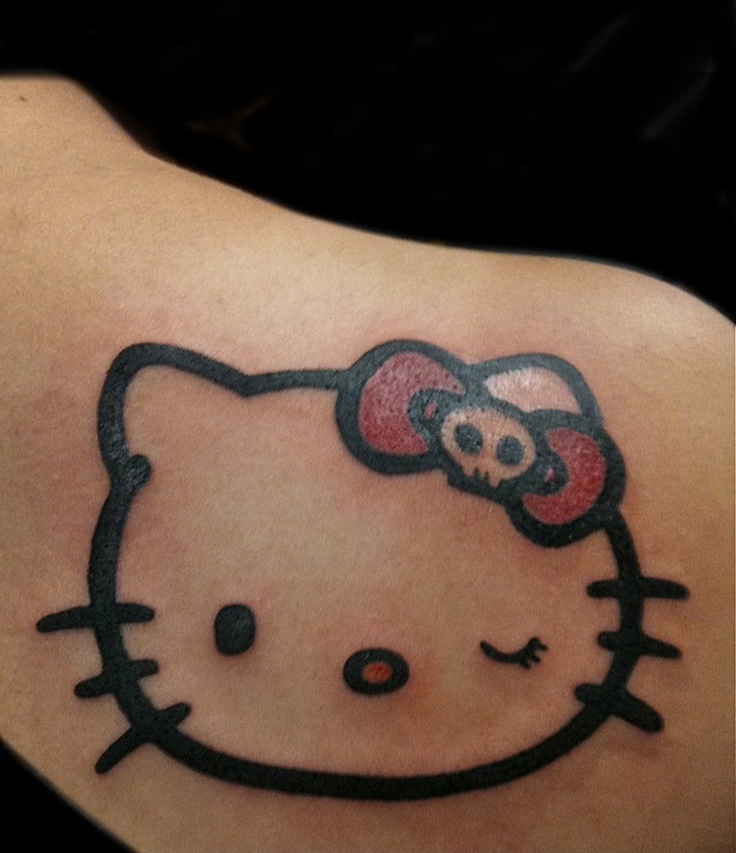 hello kitty tattoo like the skull in this one