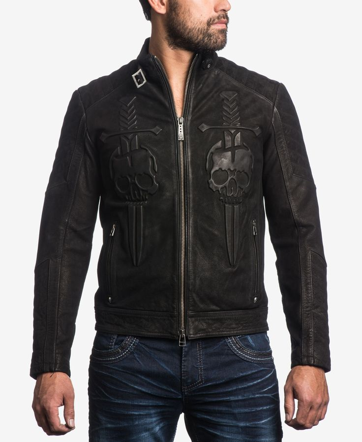 Affliction Men's Midnight Hour Leather Jacket